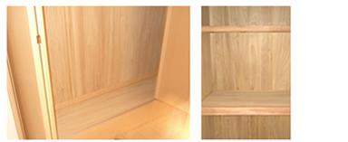 【桐収納内装】湿気防止効果により、安心して収納できる。